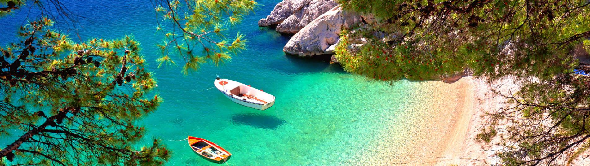 Plage de la côte Dalmate en Croatie