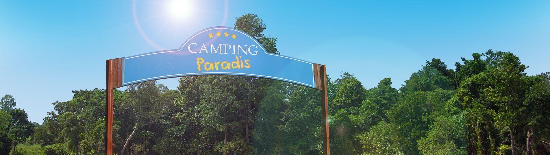 Accueil camping Paradis