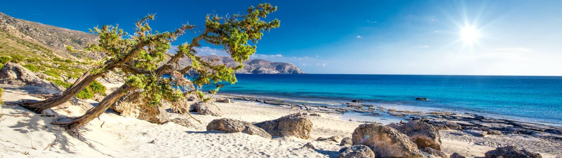 Plage d'Elafonissi en Crete