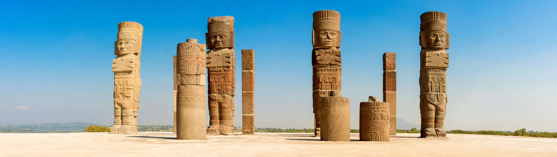Site archéologique de Tula au Mexique