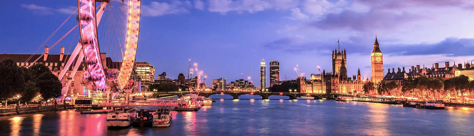 Vue de Londres la nuit